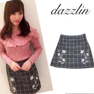 ダズリン(dazzlin)のdazzlin ダズリン  刺繍 チェック ミニ キュロット スカート M(ミニスカート)