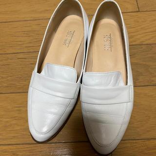 プールサイド(POOL SIDE)のpoolside 白ローファー(ローファー/革靴)