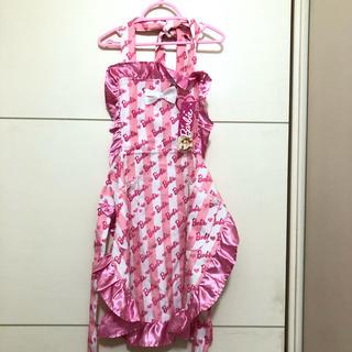 バービー(Barbie)のBarbie キッズ エプロン 120-140 新品 タグ付き(その他)