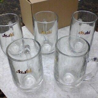 アサヒ(アサヒ)のアサヒ ビールジョッキ 大5個セット★ゴールドラベル♪♪ビアジョッキ生ビール(グラス/カップ)