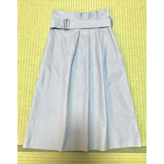 デミルクスビームス(Demi-Luxe BEAMS)のDemi-Luxe BEAMS ハイウエスト タイトスカート 水色(ひざ丈スカート)