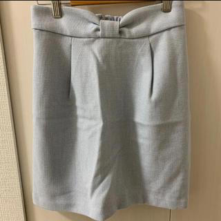 イング(INGNI)のINGNI リボンタイトスカート♡パステルブルー(ひざ丈スカート)