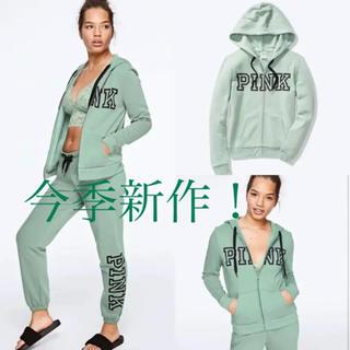 ヴィクトリアズシークレット(Victoria's Secret)のヴィクトリアシークレット今季新作greenパーカー(パーカー)