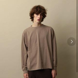 スティーブンアラン(steven alan)のsteven alan ボーダークルーネックlong sleeve Lサイズ(Tシャツ/カットソー(七分/長袖))