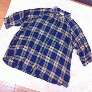 ダブルネーム(DOUBLE NAME)のビッグドルマンチェックシャツ(シャツ/ブラウス(長袖/七分))