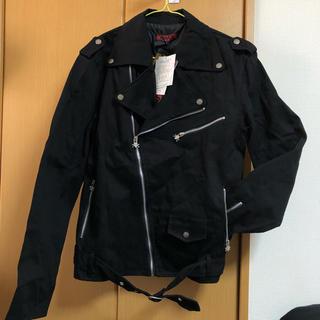 マッド(MAD(M∀D))のライダースジャケット コート 黒 ドクロ 甘辛 アウター タグ付き 新品未使用(ライダースジャケット)