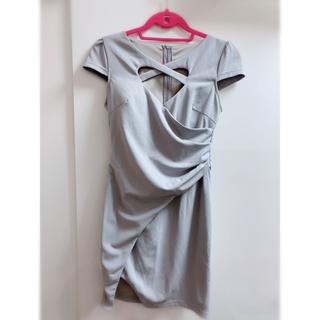 ジュエルズ(JEWELS)のフロントハート ドレス グレー(ナイトドレス)