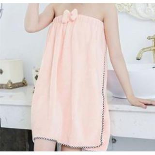 バスタオル 着れる ピンク ラップタオル バスローブ エステ ジム 吸水(タオル/バス用品)