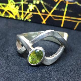 8月の誕生石 誕生石リング シルバー925 天然石ペリドットsilver925(リング(指輪))