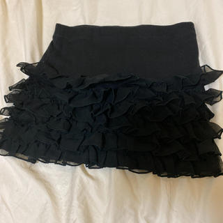 ミニスカート インディオ フリルミニ ブラック