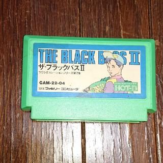 ファミリーコンピュータ(ファミリーコンピュータ)の珍しいよ釣りソフト、ファミコンソフト ブラックバス2(家庭用ゲームソフト)