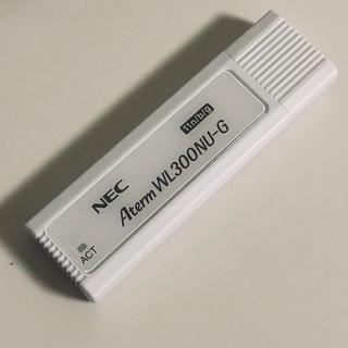 エヌイーシー(NEC)のNEC 無線LAN子機 Aterm WL300NU-G(PC周辺機器)