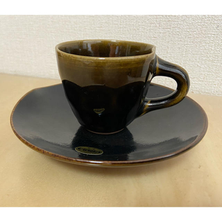 荒木陶窯 薩摩焼の古流派  コーヒーカップ、ソーサーセット (グラス/カップ)