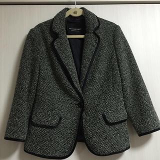 ストロベリーフィールズ(STRAWBERRY-FIELDS)のツィードラメ入りジャケット(テーラードジャケット)