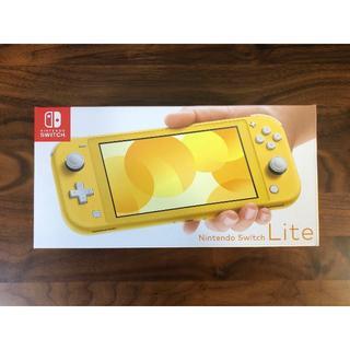 ニンテンドウ(任天堂)の即発送可 新品未開封 Nintendo Switch lite イエロー(家庭用ゲーム機本体)