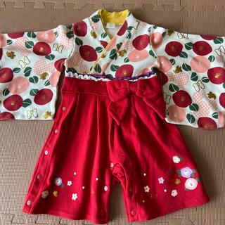 ディズニー(Disney)のミニー 袴ロンパース(和服/着物)