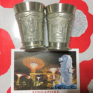 トウヨウササキガラス(東洋佐々木ガラス)のシンガポール 土産 グラス ペアセット 新品(グラス/カップ)