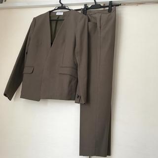 プラステ(PLST)のPLST リネンブレンドストレッチジャケットとパンツセット スーツL(スーツ)