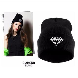 diamond ビーニー Black(ニット帽/ビーニー)