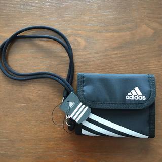アディダス(adidas)のアディダス三つ折り財布 黒(財布)