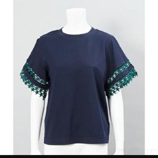 ミュベールワーク(MUVEIL WORK)のMUVEIL WORK】星のレーストップネイビーグリーン(Tシャツ(半袖/袖なし))