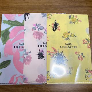 コーチ(COACH)のCOACH クリアファイル薔薇柄 単品(クリアファイル)