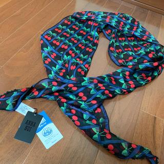 アナスイ(ANNA SUI)の新品 ANNA SUI さくらんぼ シルク ストール スカーフ(バンダナ/スカーフ)