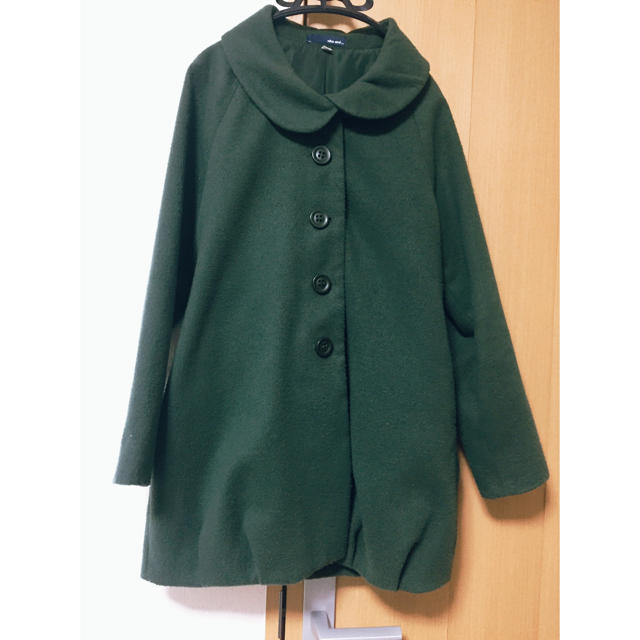 niko and...(ニコアンド)のニコアンド グリーン 丸襟コート レディースのジャケット/アウター(ロングコート)の商品写真