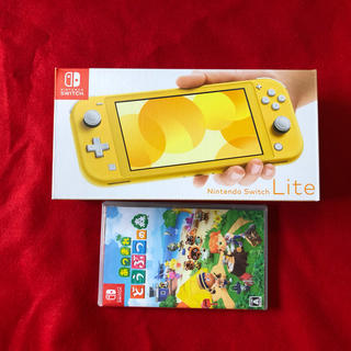 ニンテンドースイッチ(Nintendo Switch)のSwitch Light イエロー あつまれどうぶつの森 (家庭用ゲーム機本体)