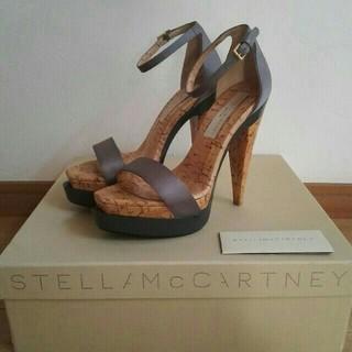 ステラマッカートニー(Stella McCartney)のステラマッカートニー サテン×コルク サンダル ハイヒール(ハイヒール/パンプス)