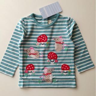 コドモビームス(こどもビームス)の新品 JoJo Maman Bebe ねずみアップリケ 長袖トップス 6-12M(Tシャツ)