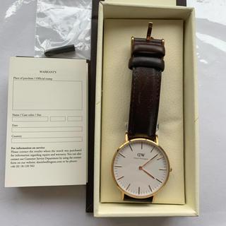 ダニエルウェリントン(Daniel Wellington)の箱なしダニエルウェリントン 腕時計 男女兼用 36ミリ 36mm ピンクゴールド(腕時計(アナログ))