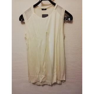 ジルサンダー(Jil Sander)のJIL SANDER NAVY トップス ノースリーブ ホワイト レディース(Tシャツ(半袖/袖なし))