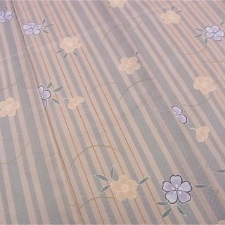 ミツコシ(三越)の夏用着物 小紋 絽 化繊(着物)