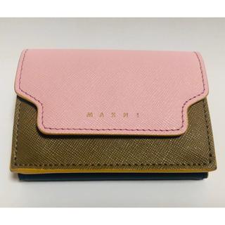 マルニ(Marni)の◎ほぼ未使用品 マルニ 三つ折り財布(折り財布)