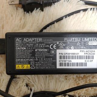 フジツウ(富士通)の富士通純正ノートパソコン用 AC アダプター19v 3.16A(PC周辺機器)