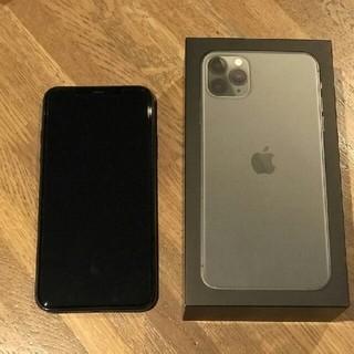 アイフォーン(iPhone)のiPhone 11 pro max 512GB ミッドナイトグリーン 海外版(スマートフォン本体)