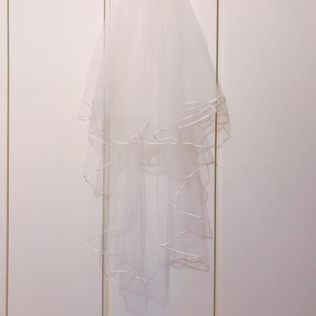 ウェディングベール ミドル丈 レディースのフォーマル/ドレス(ウェディングドレス)の商品写真
