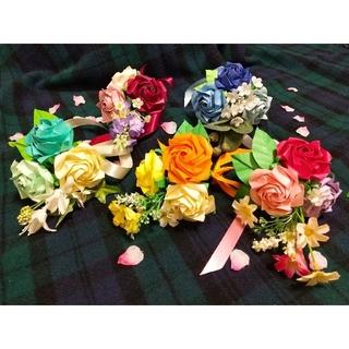折り紙の薔薇の花束 5色セット(その他)
