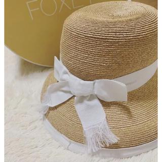 フォクシー(FOXEY)のFOXEY 麦わら帽子 ストローハット(麦わら帽子/ストローハット)