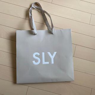 スライ(SLY)のスライ ショッパー(ショップ袋)