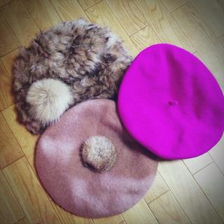 アースミュージックアンドエコロジー(earth music & ecology)の帽子三点earth、PJ、ローズバッド(ハンチング/ベレー帽)