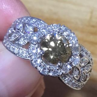 美麗❗️1ct超‼️ブラウンダイヤ✨リング✨約21号✨指輪✨ダイヤ✨ミルウチ(リング(指輪))