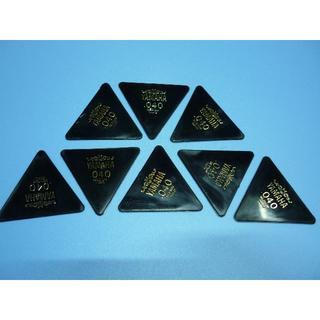 YAMAHA 正三角形ピック 8枚セット  厚さ:040 (長期在庫品) 黒(その他)