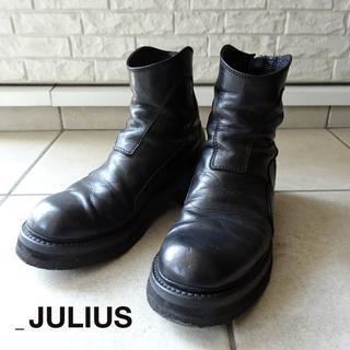 ユリウス(JULIUS)のJULIUS バックジップエンジニアブーツ 1 ブラック 2015FW ユリウス(ブーツ)