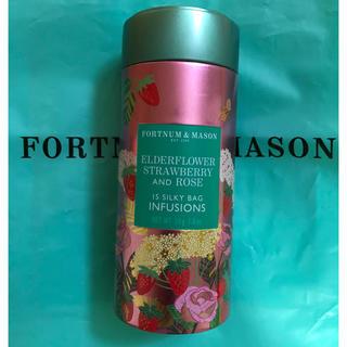 FORTNUM & MASON 紅茶 缶 ストロベリー ローズ ハーブティー(茶)