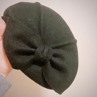 カシラ(CA4LA)のCA4LA カシラ ベレー帽 リボン(ハンチング/ベレー帽)