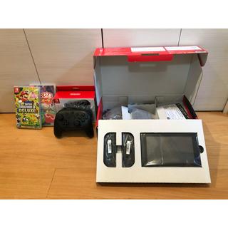 ニンテンドースイッチ(Nintendo Switch)の新型ニンテンドースイッチ 本体 美中古 Proコン ソフト付 保証残有 即日発送(家庭用ゲーム機本体)