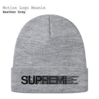 シュプリーム(Supreme)のsupreme motion logo beanie heather grey(ニット帽/ビーニー)