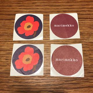 マリメッコ(marimekko)の【marimekko 】マリロゴ、ウニッコシール 4枚(シール)